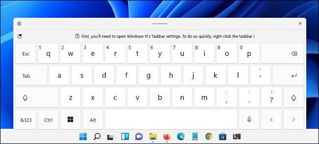 Bàn phím ảo trên Windows 11