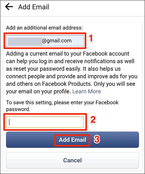doi email facebook bang ung dung 7