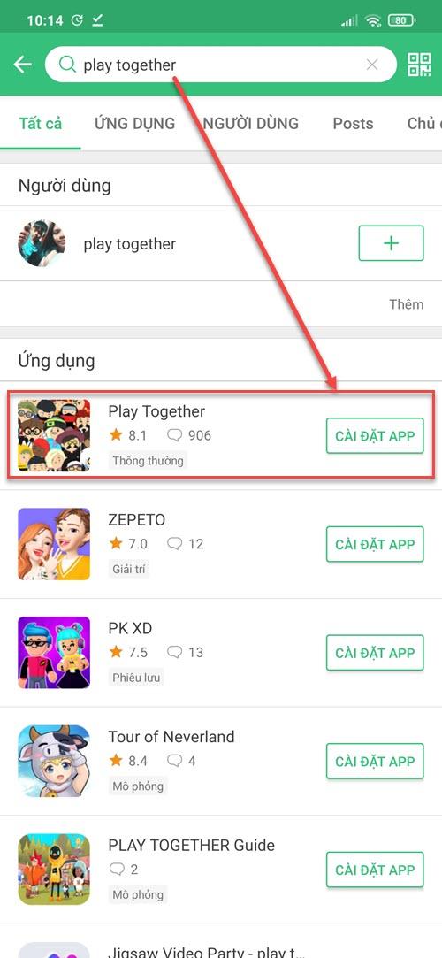 Cài đặt Play Together từ APKPure
