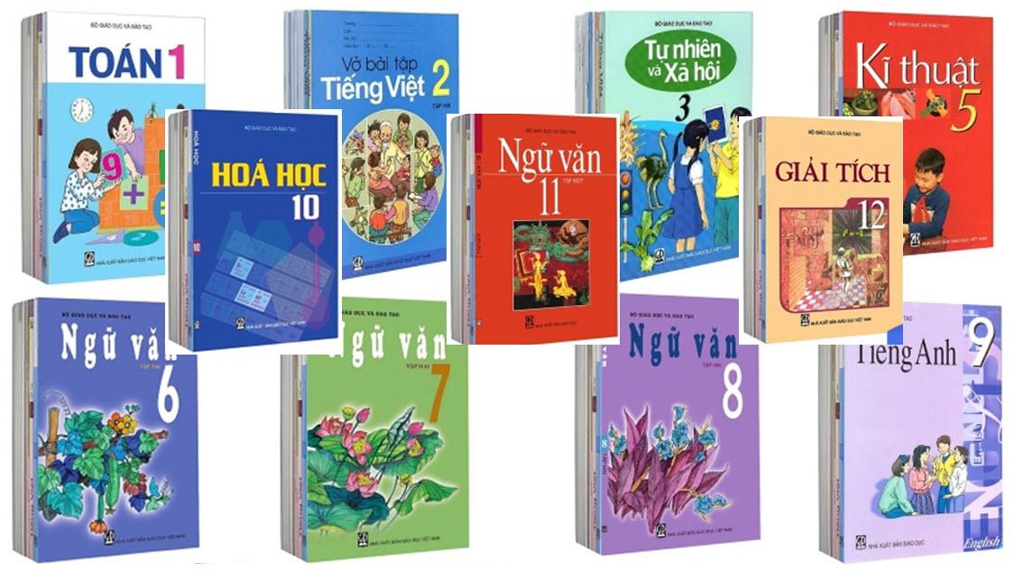 Bộ sách giáo khoa lớp 1 đến lớp 12