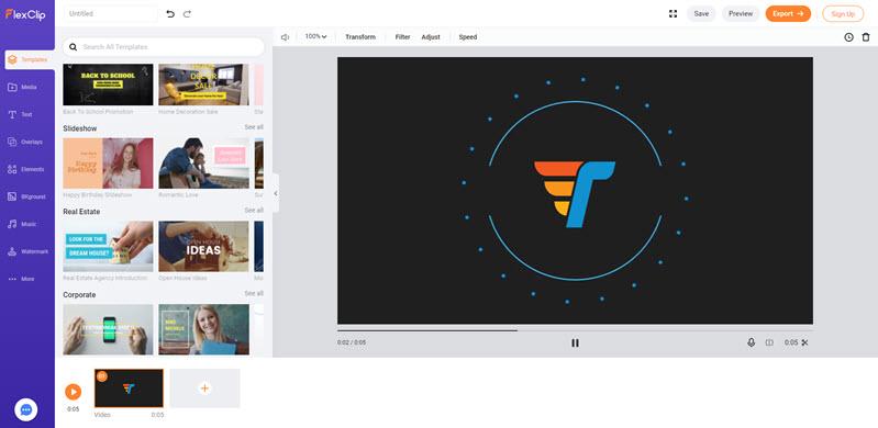 Flexclip - tạo video online miễn phí